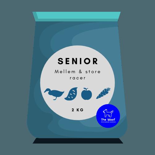 Tørfoder med and til senior hund