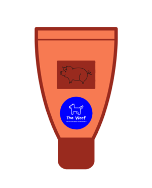 Tube med leverpostej til hund